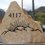 Price is $1650 - $2710 for a rock sign similar to this (42