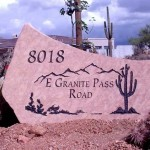 Price is $800 - $1400 for a rock sign similar to this (40