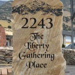 Price is $1750 - $2910 for a rock sign similar to this (90