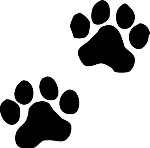 Related pictures cat paw print clip art