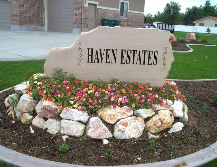 187 Entrance Sign Carved In Stone Natural Rock Designs