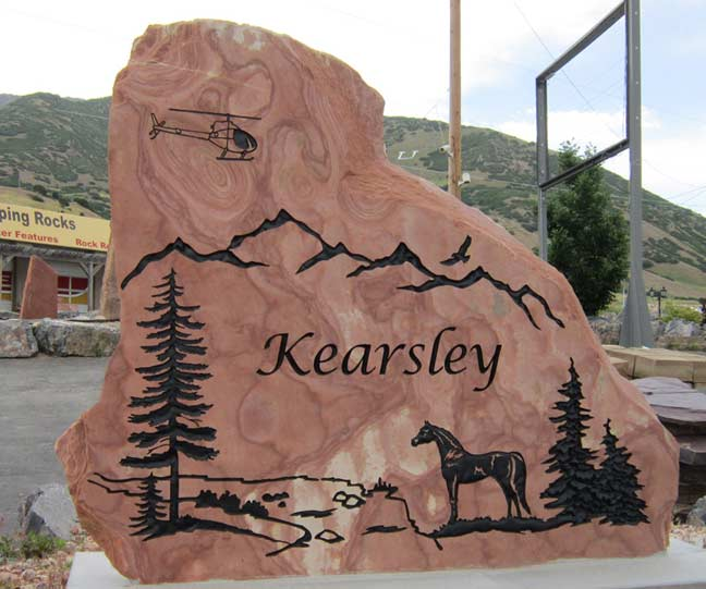 187 Family Name Signs Engraved In Stone Natural Rock Designs