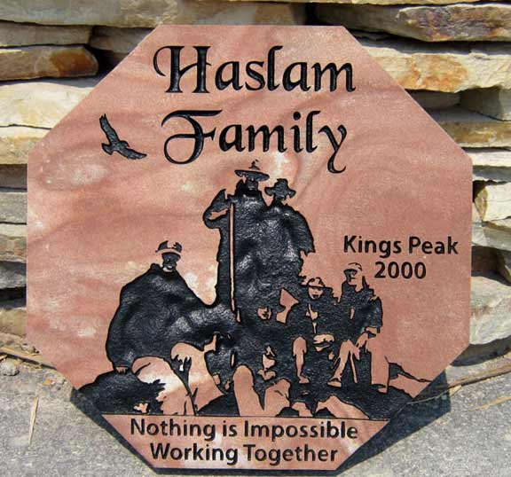 u00bb family name signs engraved in stone natural rock designs