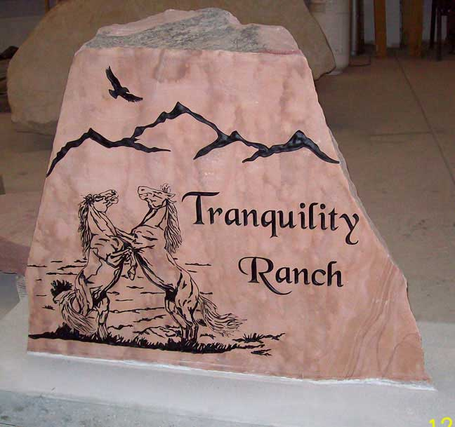 187 Rock Solid Farm And Ranch Entrance Signs Natural Rock