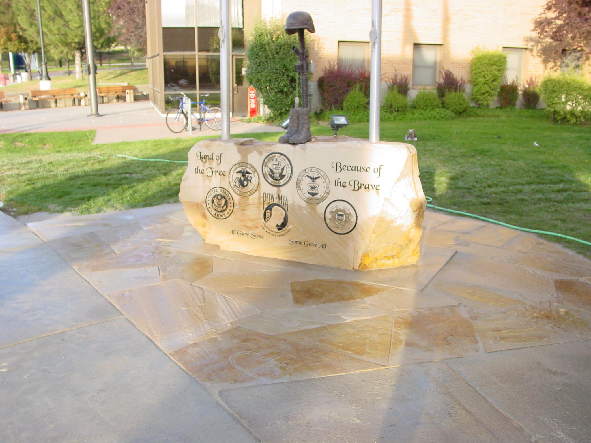 flagpole bases as veterans memorials natural rock designs