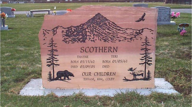 Monuments • Headstones • Grave Markers Natural Rock Designs