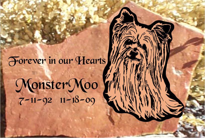 Pet Memorial Headstones Natural Rock Designs