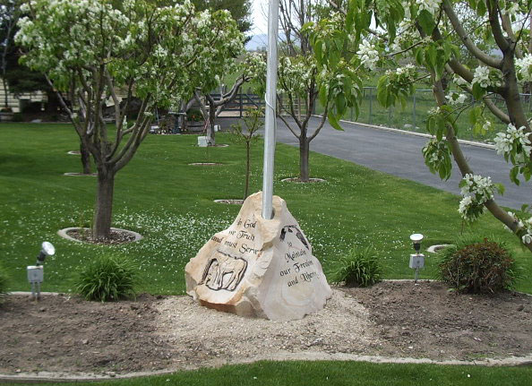 187 Residential Flagpole Bases Natural Rock Designs