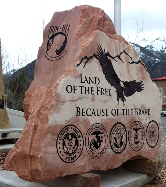 Mailbox Stand Designs : Veterans memorials natural rock designs
